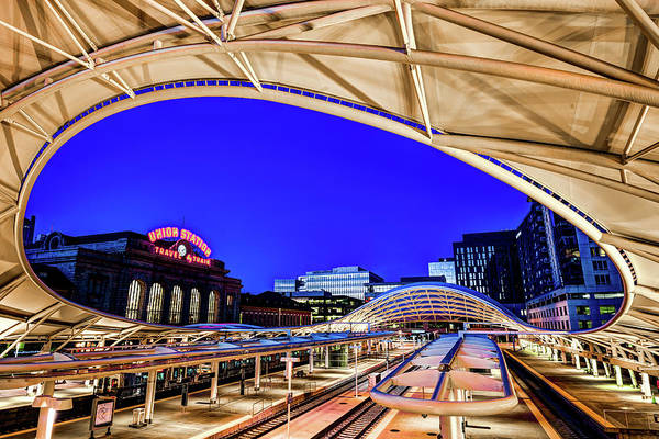 Photograph - The Eye Of Denver Union Station At Dawn by Gregory Ballos