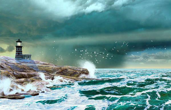 Digital Art - The Eye Of Neptune by Dieter Carlton