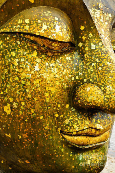 Wall Art - Photograph - The Face Of Buddha by Wasu Watcharadachaphong