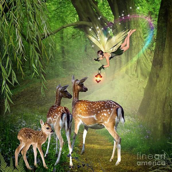 Mixed Media - The Fairy Of The Forest by Morag Bates