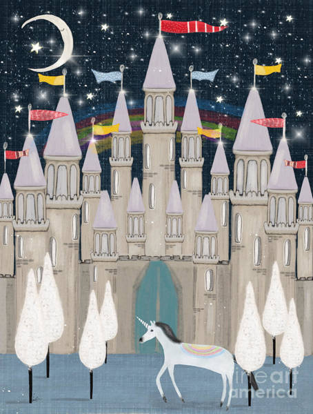 Dreamy Wall Art - Painting - The Fairy Princess Castle by Bri Buckley