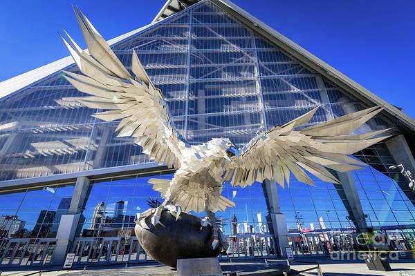 Photograph - The Falcon - Mercedes Benz Stadium - Atlanta Ga by Sanjeev Singhal