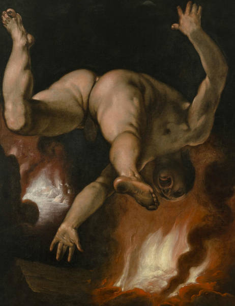 Wall Art - Painting - The Fall Of Ixion by Cornelis van Haarlem
