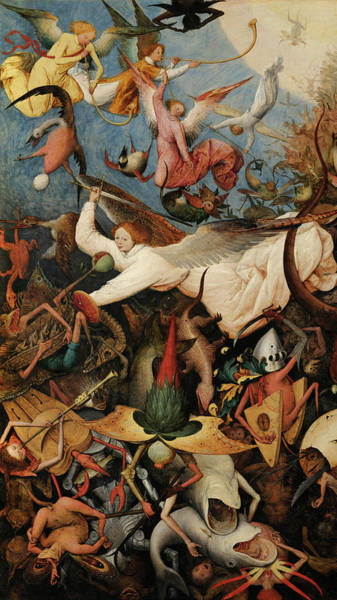 Wall Art - Painting - The Fall Of The Rebel Angels, 1562, Detail by Pieter Bruegel the Elder