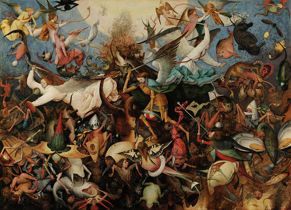 Wall Art - Painting - The Fall Of The Rebel Angels, 1562 by Pieter Bruegel the Elder