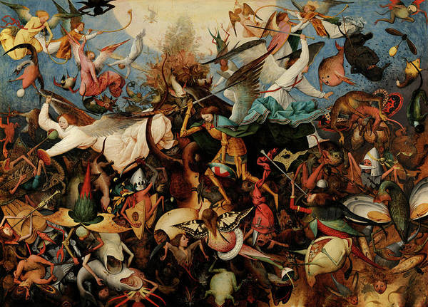 Wall Art - Painting - The Fall Of The Rebel Angels, 1562 by Pieter Bruegel