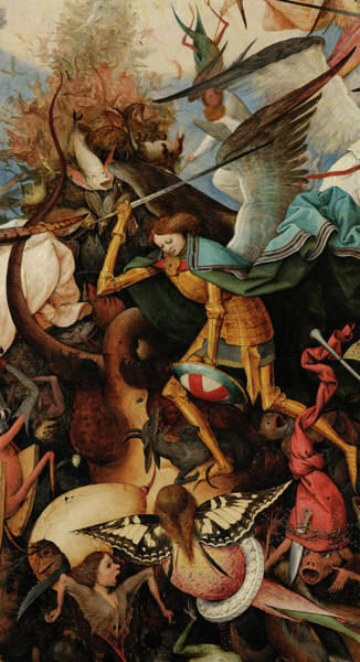 Wall Art - Painting - The Fall Of The Rebel Angels, Archangel Michael,1562 by Pieter Bruegel the Elder