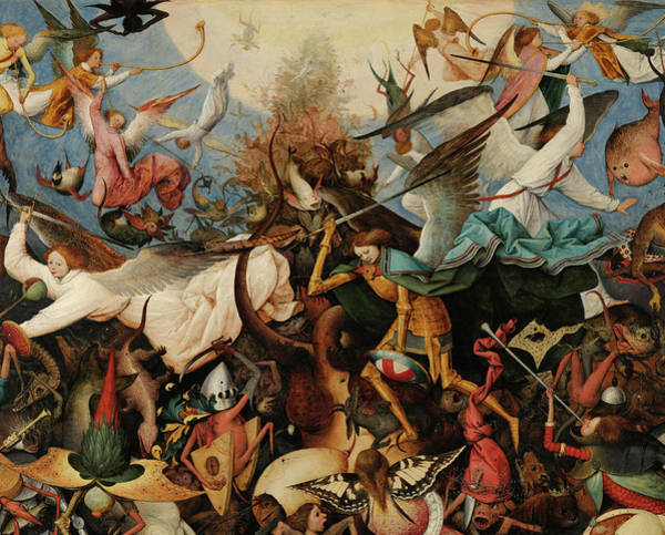 Wall Art - Painting - The Fall Of The Rebel Angels, Archangels, 1562 by Pieter Bruegel the Elder
