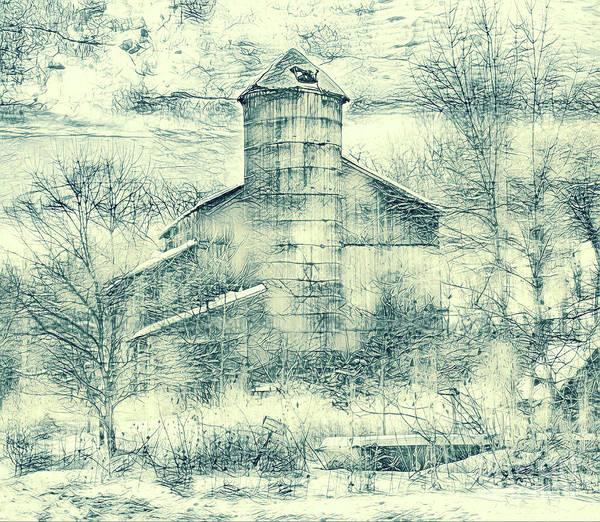 Wall Art - Photograph - The Family Farm Drawing by John Stephens