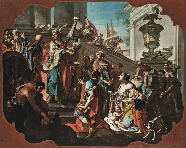 Painting - The Family Of Darius Before Alexander by Claudio Francesco Beaumont