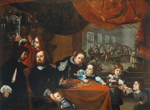 Painting - The Family Of Precious Stone Cutter Dionysius Miseroni by Karel Skreta
