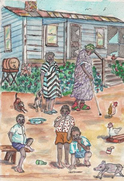 Painting - The Family On Magnolia Road by Philip Bracco