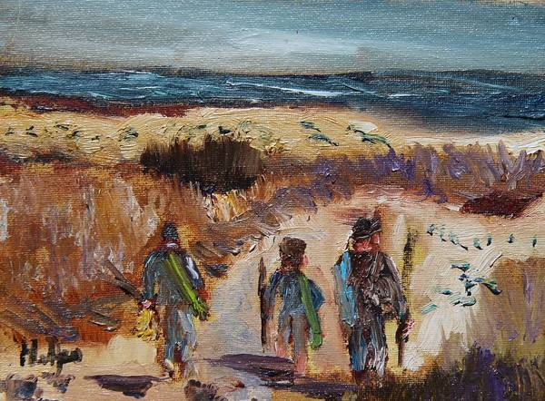 Painting - The Family That Fish Together by Michael Helfen
