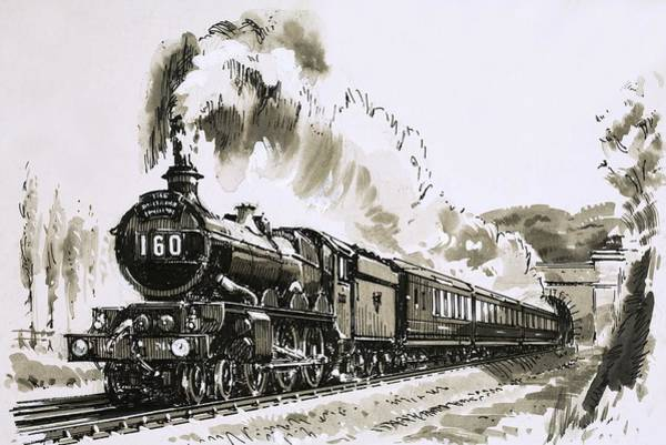 0 Painting - The Famous 4-6-0 Castle Class Of Steam Locomotives Used By Great Western by John S Smith