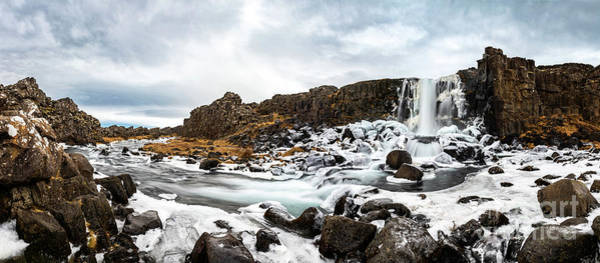 Wall Art - Photograph - The Famous Oxararfoss In Iceland's Thingvellir National Park. by Jamie Pham