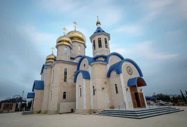 Photograph - The Famous Russian Style Orthodox Church  At The Village Episkop by Michalakis Ppalis