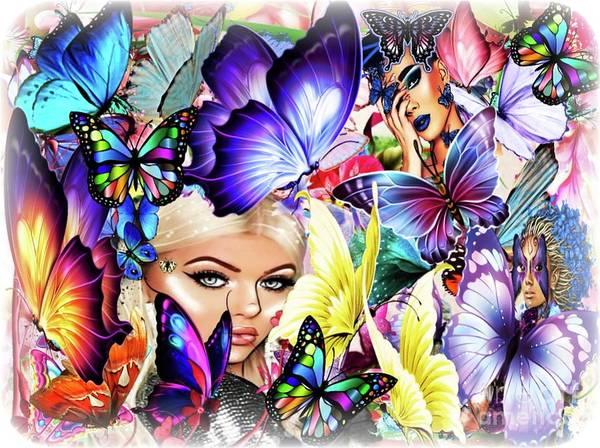 Wall Art - Digital Art - The Fantasy World Of The Butterfly Queen by Debra Lynch