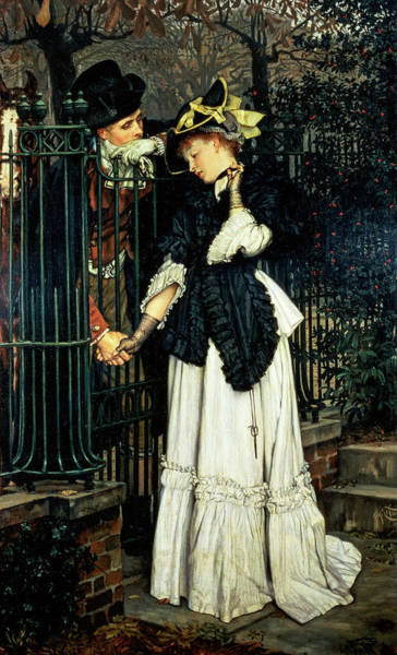 Wall Art - Painting - The Farewells, 1871 by James Tissot