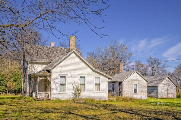 Photograph - The Farmhouse, Washhouse And Garage by Jim Thompson