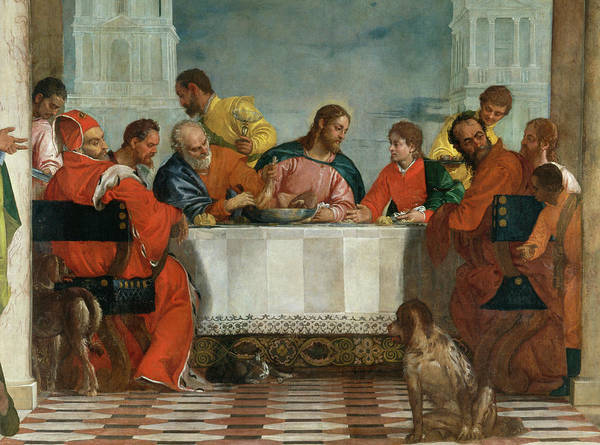 Believers Painting - The Feast In The House Of Levi, Venice, 1573, Detail by Paolo Veronese