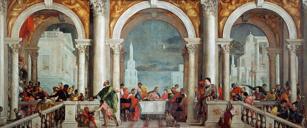 Believers Painting - The Feast In The House Of Levi, Venice, 1573 by Paolo Veronese