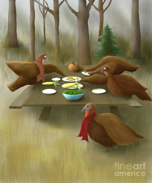 Thanksgiving Dinner Digital Art - The Feast by John Small