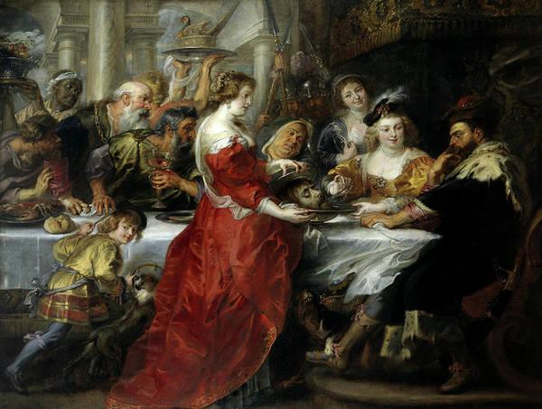 Pulling Painting - The Feast Of Herod by Peter Paul Rubens