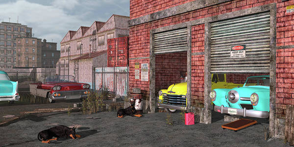Digital Art - The Fifties Warehouse by Peter J Sucy