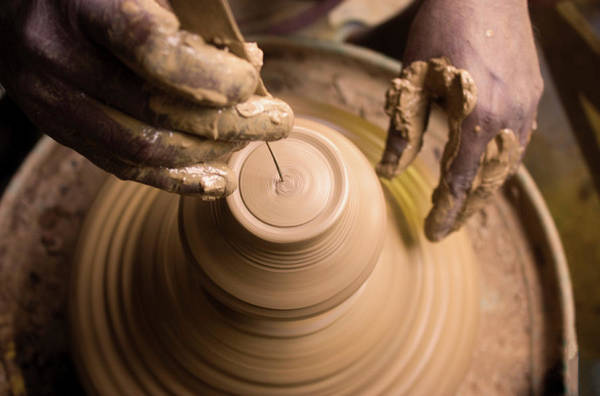 Potters Wheel Wall Art - Photograph - The Final Touch by Rajarshi Chowdhury
