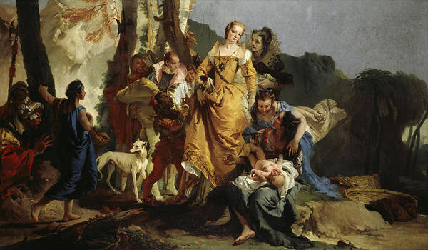 Wall Art - Painting - The Finding Of Moses, 1730 by Giovanni Battista Tiepolo