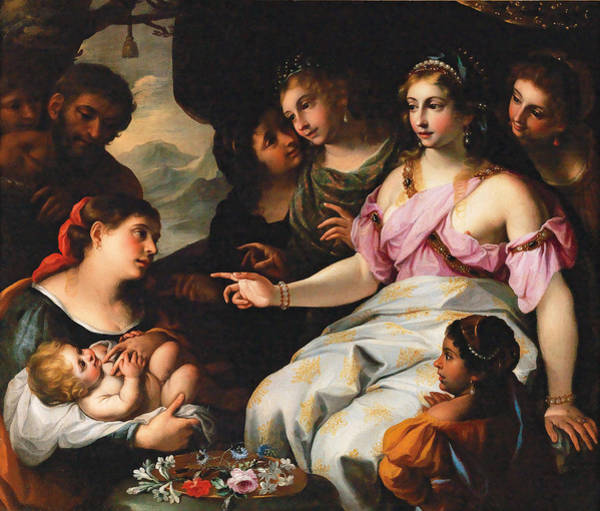 Painting - The Finding Of Moses by Elisabetta Sirani