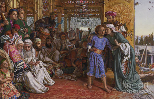 Wall Art - Painting - The Finding Of The Savior At The Temple by William Holman Hunt