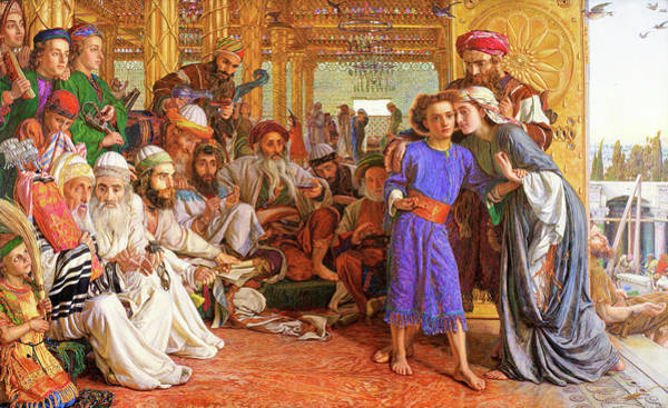 Wall Art - Painting - The Finding Of The Saviour In The Temple - Digital Remastered Edition by William Holman Hunt