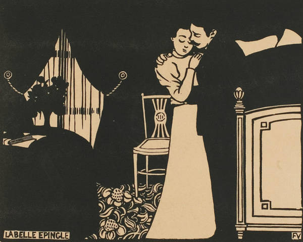 Wall Art - Relief - The Fine Pin, Plate Three From Intimacies by Felix Edouard Vallotton