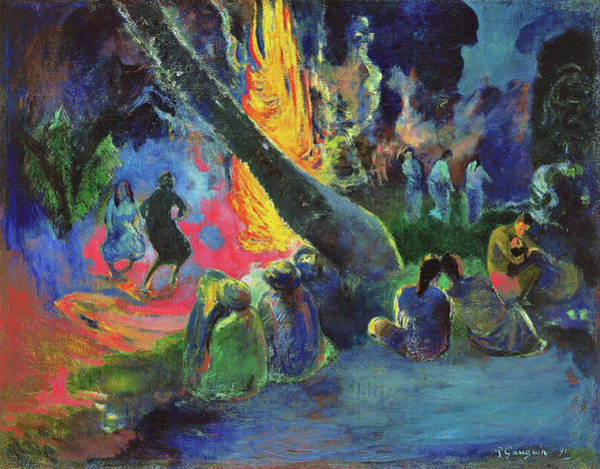 Wall Art - Painting - The Fire Dance - Digital Remastered Edition by Paul Gauguin