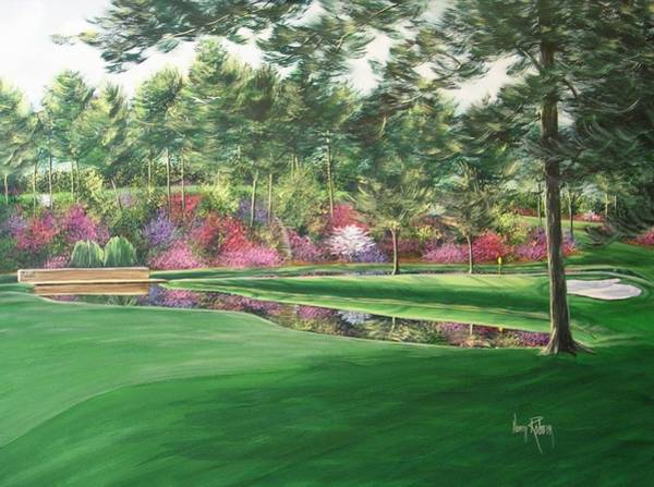 Augusta Masters Painting - The Firethorn Hole, # 15 At Augusta by Nancy Raborn