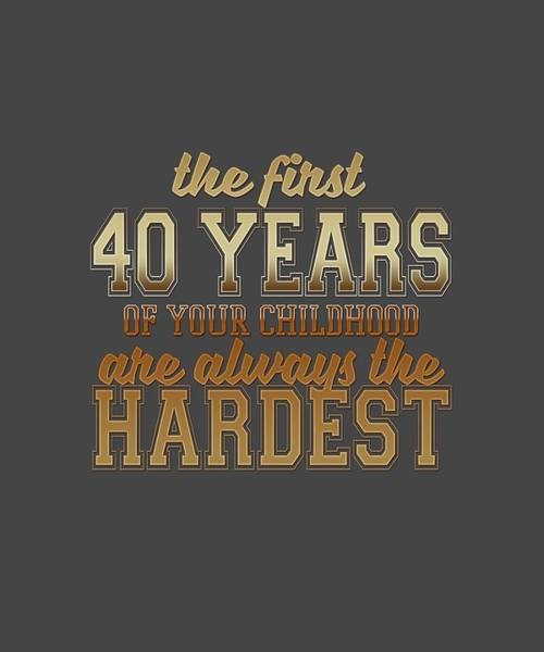 The First 40 Years Art Print