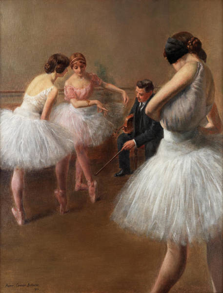 Preparation Painting - The First Pose, The Ballet Lesson by Pierre Carrier-Belleuse