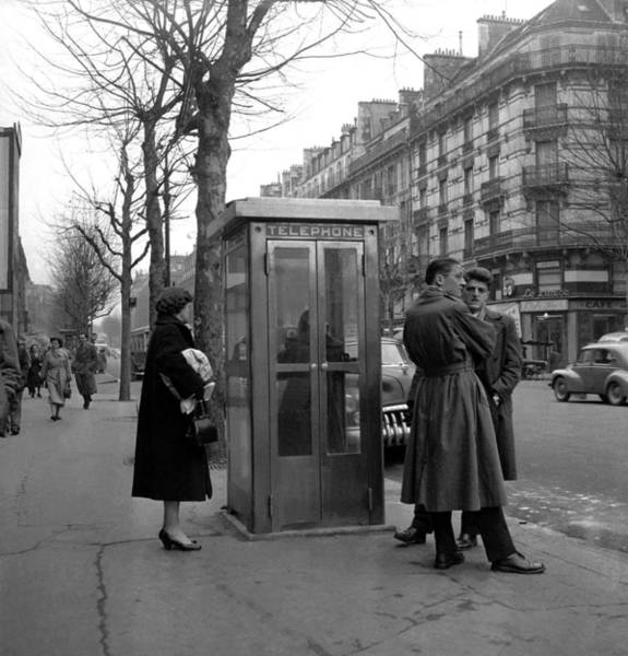 Pay Photograph - The First Public Telephone Installed In by Keystone-france