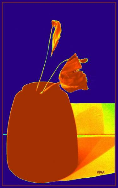 Photograph - The First Rose - Pop Art by VIVA Anderson
