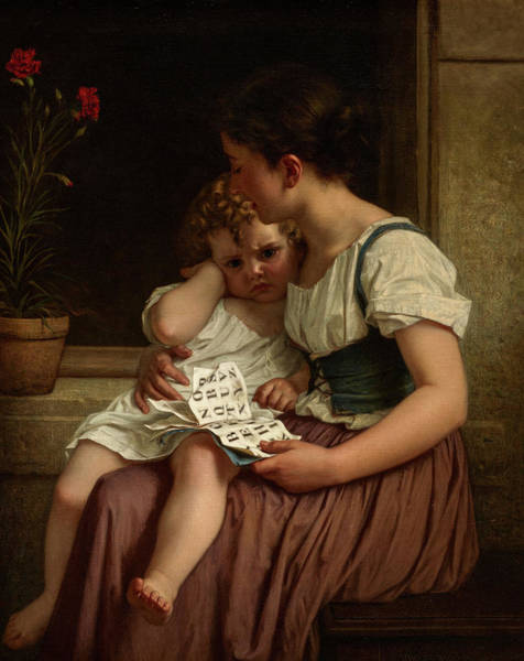 Wall Art - Painting - The First Thorns Of Knowledge, 1864 by Hugues Merle