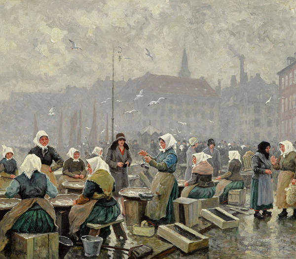 Wall Art - Painting - The Fish Market by Paul Gustave Fischer