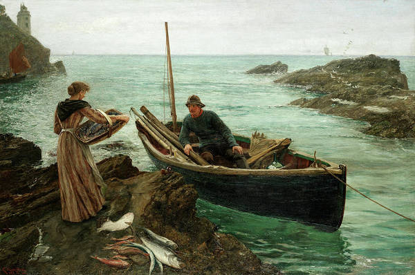 Wall Art - Painting - The Fisherman's Sweetheart by Charles Napier Hemy