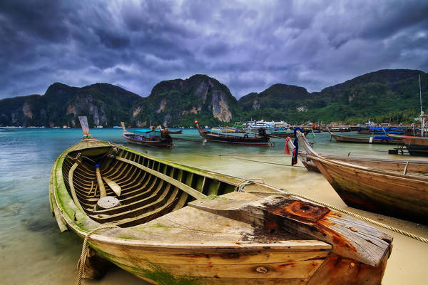 Phi Photograph - The Fishermans Village @ Phi Phi by Feel Free To Share Your Thoughts On My Works
