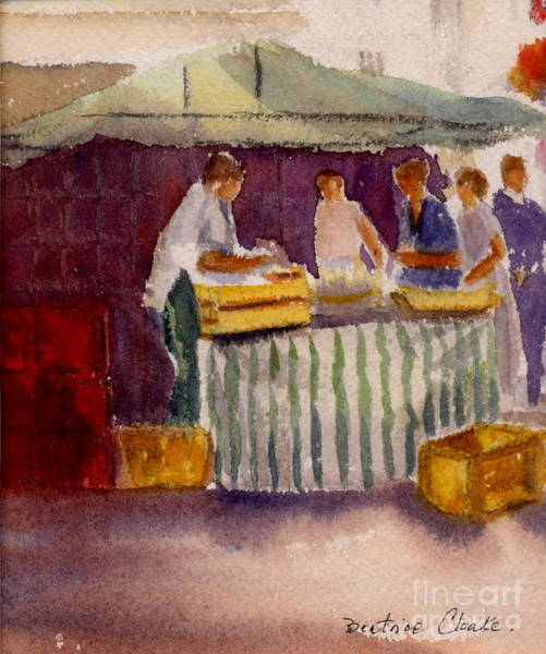 Painting - The Fishmonger by Beatrice Cloake