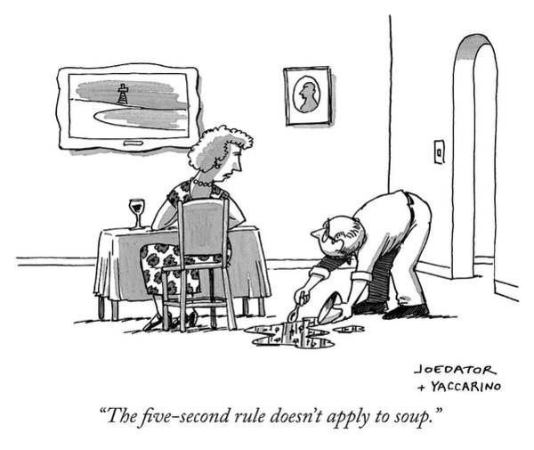 Drawing - The Five-second Rule Doesnt Apply by Joe Dator and Dan Yaccarino