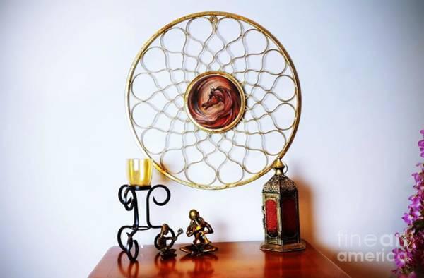 Glass Art - The Flame by Qasir Z Khan