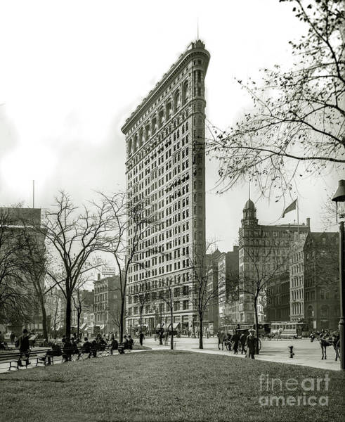 The Empire Photograph - The Flatiron Building 1903 by Jon Neidert