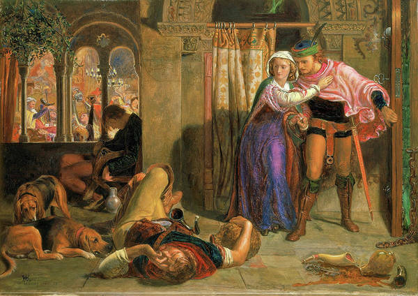 Wall Art - Painting - The Flight Of Madeline And Porphyro During The Drunkenness Attending The Revelry, 1857 by William Holman Hunt