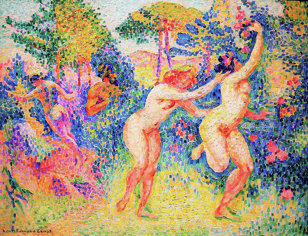 Wall Art - Painting - The Flight Of The Nymphs - Digital Remastered Edition by Henri Edmond Cross
